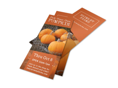 Pumpkin Picking Flyer Template preview