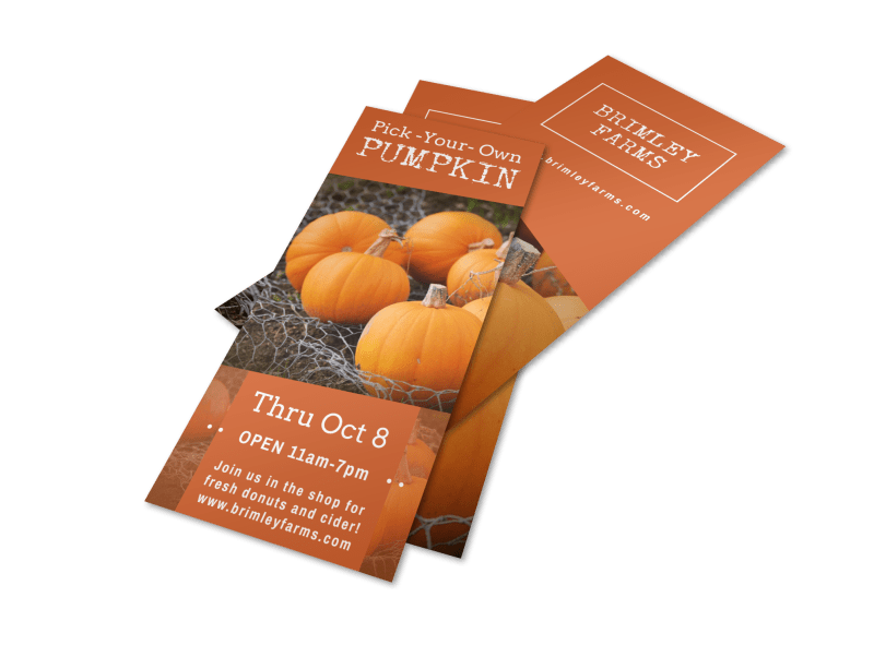 Pumpkin Picking Flyer Template Preview 1