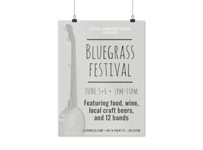 Bluegrass Festival Poster Template preview