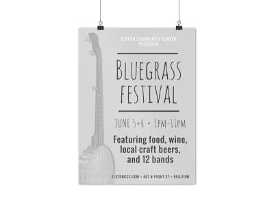 Bluegrass Festival Poster Template