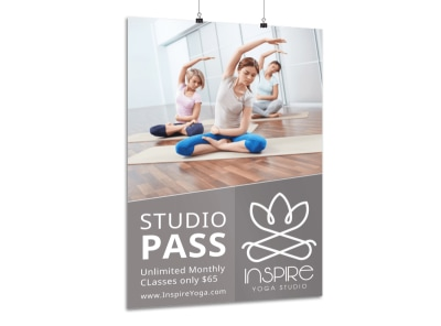 Yoga Studio Class Poster Template preview