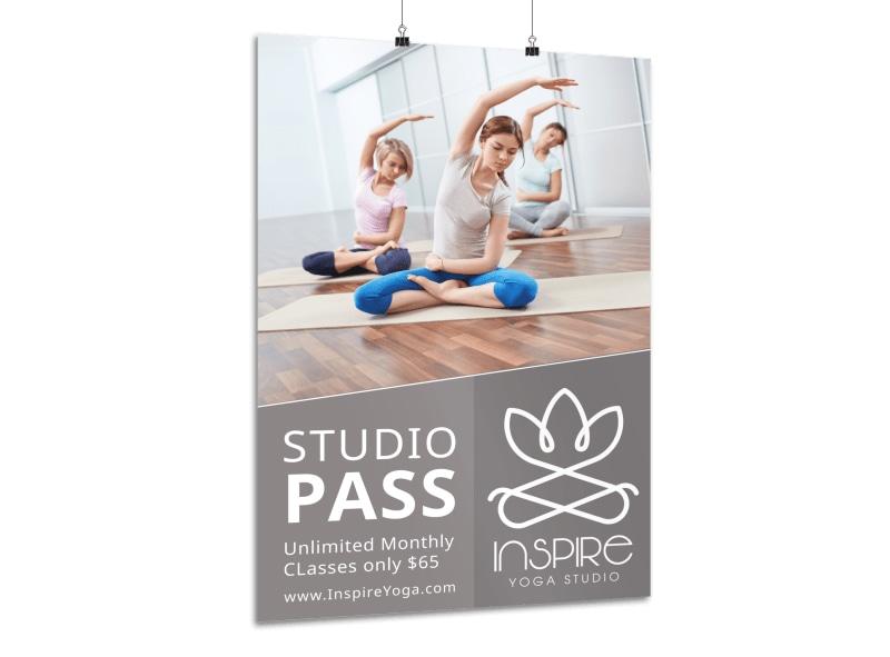 Yoga Studio Class Poster Template