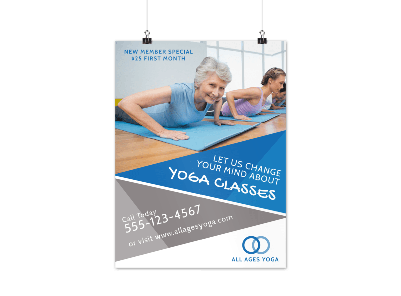 Yoga Fitness Class Poster Template