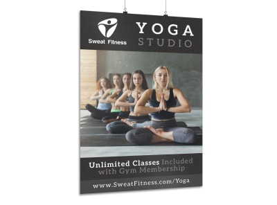 Yoga Studio Classes Poster Template preview