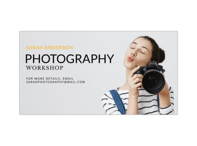 Photography Workshop Facebook Post Template preview