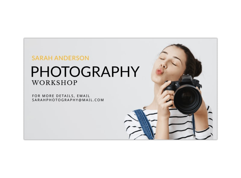 Photography Workshop Facebook Post Template Preview 3