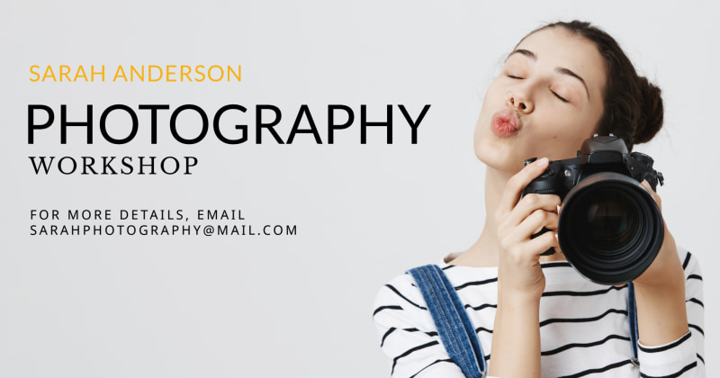 Photography Workshop Facebook Post Template Preview 2