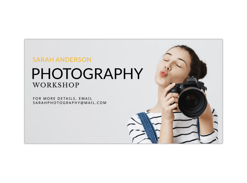 Photography Workshop Facebook Post Template Preview 1