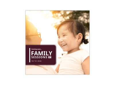 Photography Family Session Instagram Post Template preview