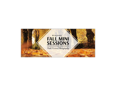 Fall Mini Sessions Facebook Cover Template preview