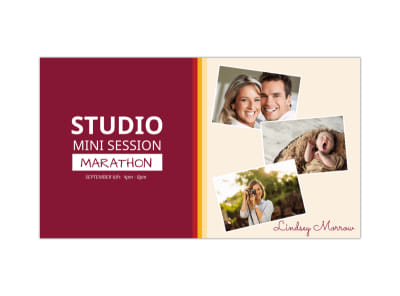 Studio Mini Session Facebook Event Cover Template preview