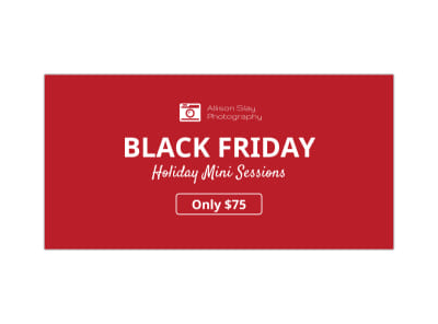 Black Friday Mini Session Twitter Post Template