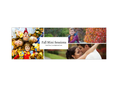 Fall Mini Session Twitter Header Template preview