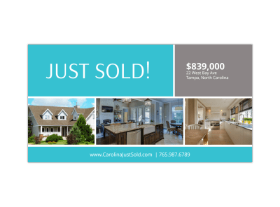 Just Sold Real Estate Facebook Post Template Preview 1