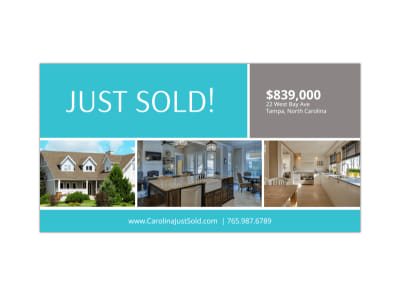Just Sold Real Estate Facebook Post Template preview