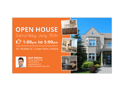 Open House Facebook Event Cover Template preview