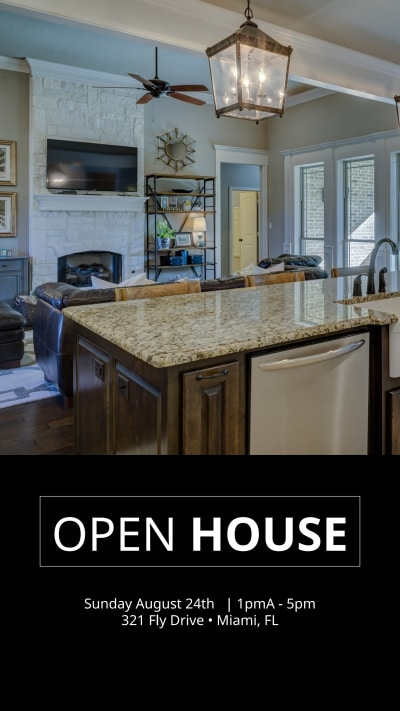 Open House Instagram Story Template Preview 1