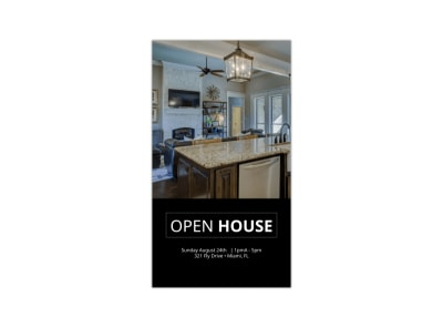 Open House Instagram Story Template preview
