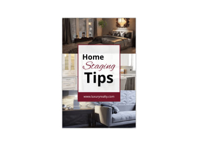 Home Staging Tips Pinterest Graphic Template preview