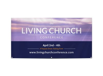 Living Church Conference Banner Template preview