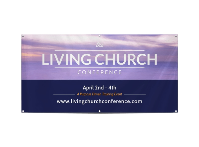 Living Church Conference Banner Template