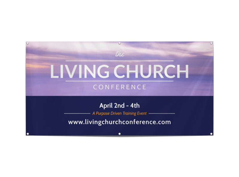Living Church Conference Banner Template Preview 1