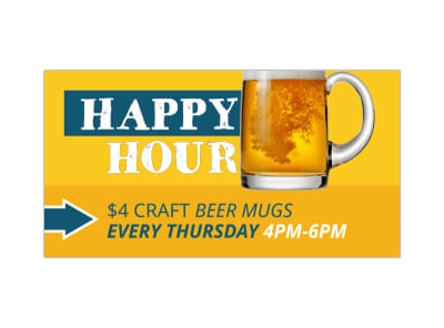 Happy Hour Facebook Post Template preview