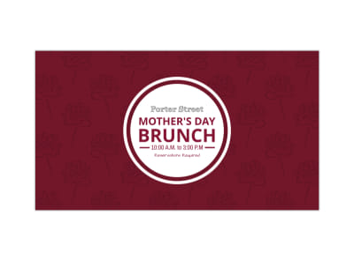 Mother's Day Brunch Facebook Event Cover Template preview