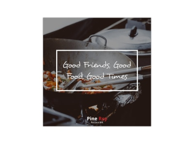 Good Friends Restaurant Instagram Post Template preview