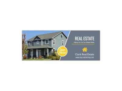 Real Estate Open House Facebook Cover Template preview