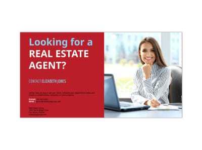 Real Estate Agent Facebook Post Template preview