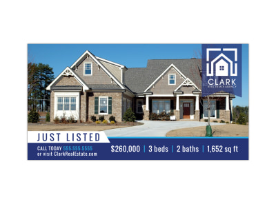 Just Listed Real Estate Facebook Post Template preview