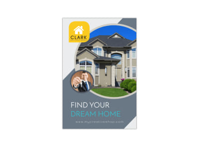 Dream Home Pinterest Graphic Template preview