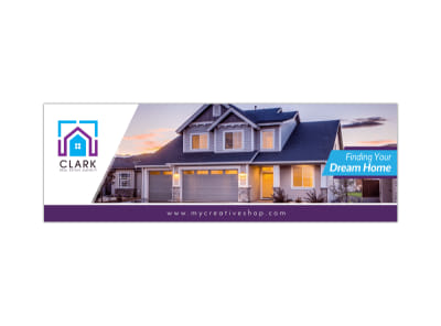 Dream Home Twitter Header Template preview