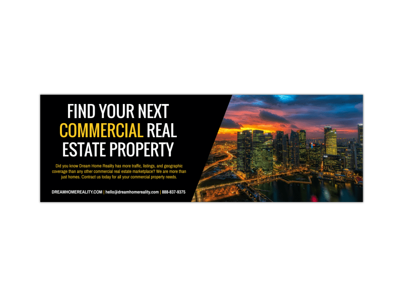Commercial Real Estate Twitter Header Template