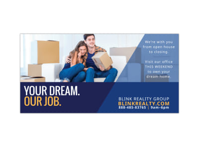 Dream Realty Twitter Post Template preview