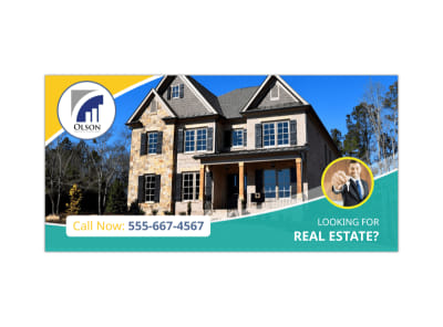 Featured Real Estate Twitter Post Template preview