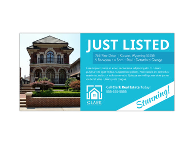 Real Estate Just Listed Twitter Post Template preview