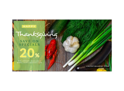 Thanksgiving Sale Facebook Post Template preview