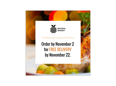 Thanksgiving Market Instagram Post Template preview