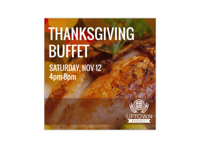 Thanksgiving Buffet Instagram Post Template preview