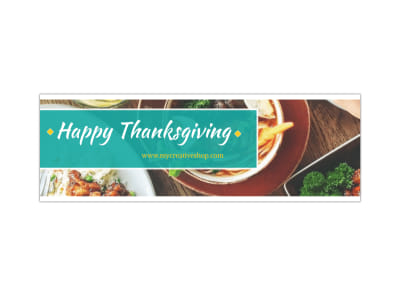 Happy Thanksgiving Twitter Header Template preview