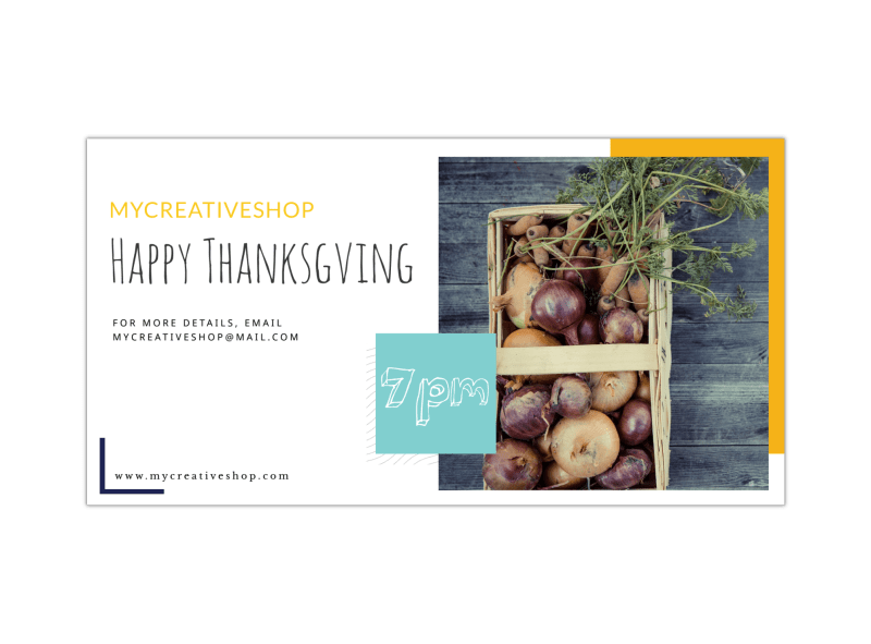 Happy Thanksgiving LinkedIn Post Template Preview 1