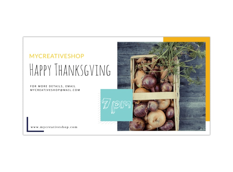 Happy Thanksgiving LinkedIn Post Template Preview 3