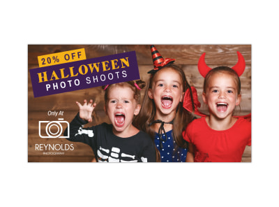 Halloween Photo Shoot Facebook Post Template preview