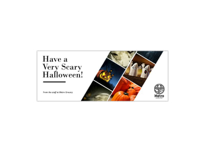 Scary Halloween Facebook Cover Template preview