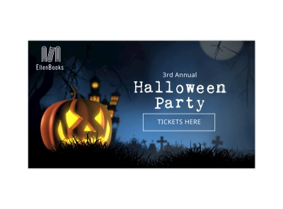 Halloween Party Facebook Event Cover Template preview
