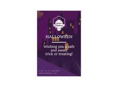 Safe Halloween Pinterest Graphic Template preview