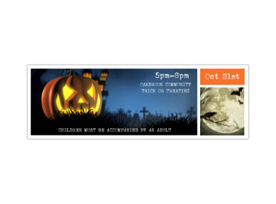 Community Halloween Twitter Header Template preview