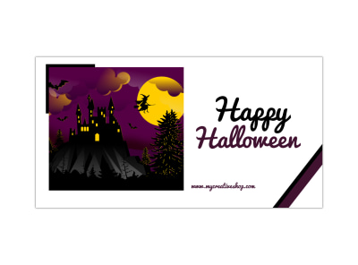 Happy Halloween LinkedIn Post Template preview
